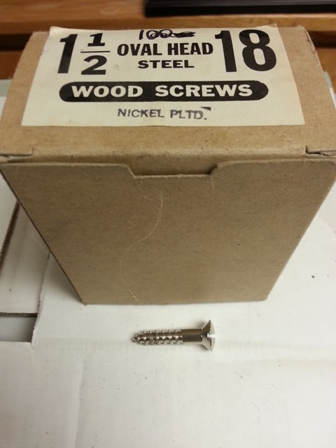 Oval Head Steel Wood Screws (Nickel Plated)