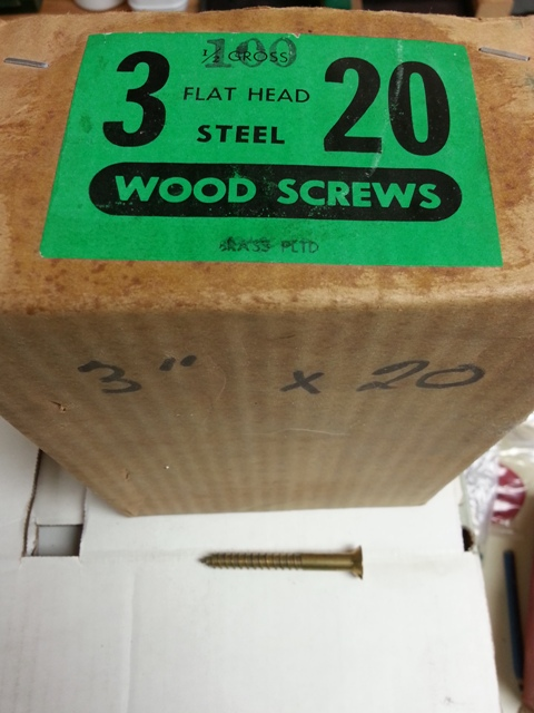 Flat Head Steel Wood Screws (Brass Plated)