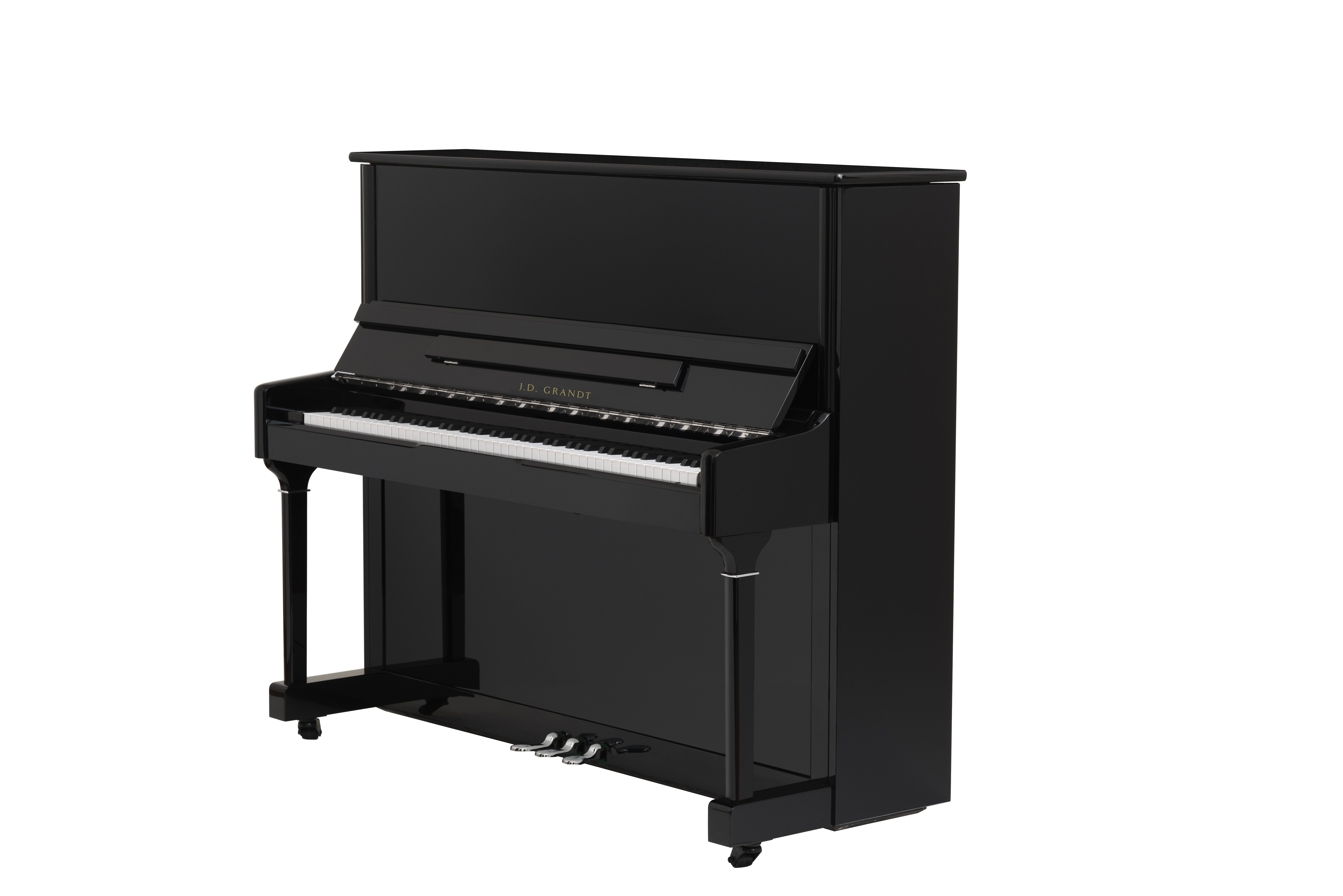 J.D. Grandt UP-115 Black Upright Piano