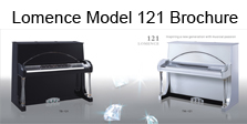 Lomence Modern Crystal Pianos - Model 121 Brochure