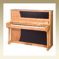 Steingraeber & Söhne Upright Piano - Model 130 PS Quilted Maple