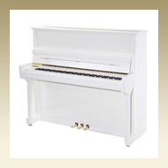 Steingraeber & Söhne Upright Piano - Model 130 PS White Polished
